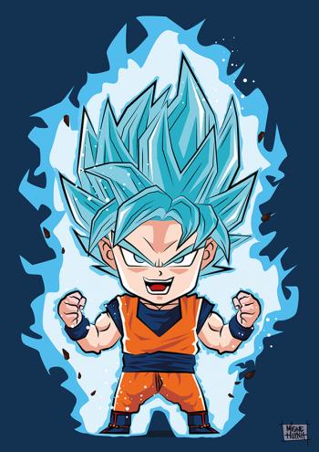 Son Goku Super Saiyan Blue By Migne Huynh Origamigne