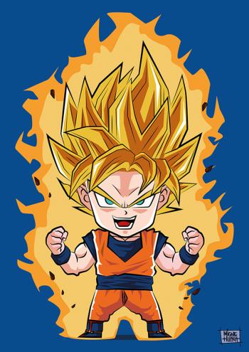 Son Goku Super Saiyan By Migne