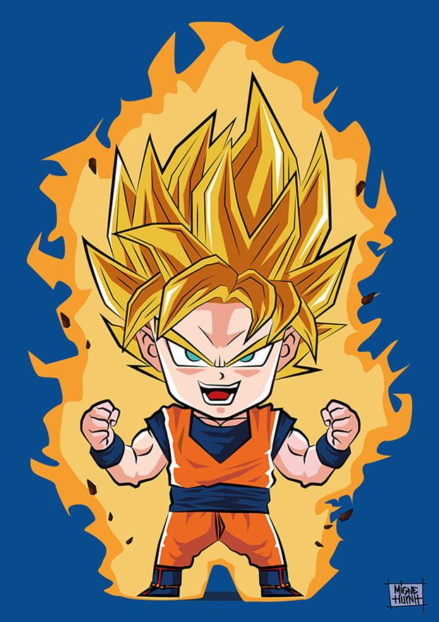 Son goku super saiyan origamigne shop - Goku super sayen ...