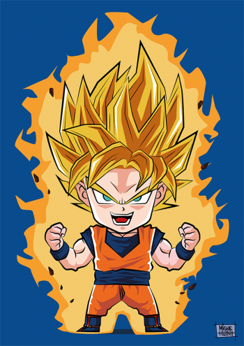 Son Goku Super Saiyan By Migne