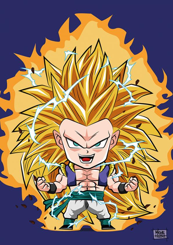 Gotenks Super Saiyan 3 Chibi