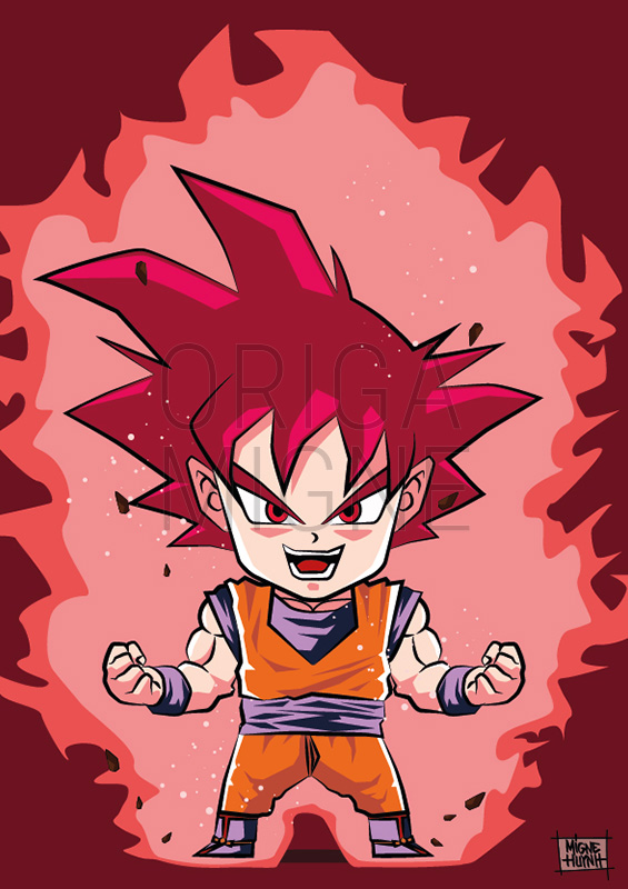 Son Goku Super Saiyan God Chibi