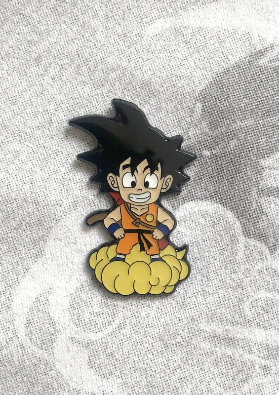 Kid Goku metal pin