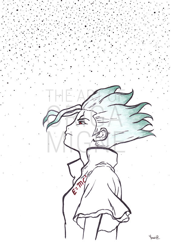 Senku Ishigami illustration